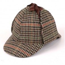 Шапка Шерлока Холмса Deerstalker Hat - Brown