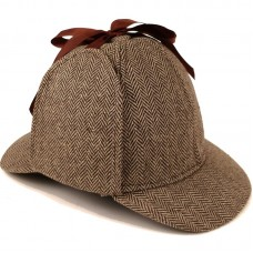 Шапка Шерлока Холмса Herringbone Brown